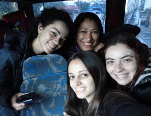 Equipe CIAVIP Cultural chegando em Volta Redonda.
