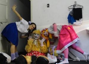 Elaine Oliveira, Fabricia Vivas e Thalita Molina. Elenco de Os Brinquedos da Bebel.