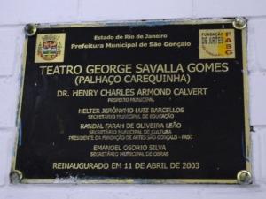 Teatro George Savalla Gomes - RJ