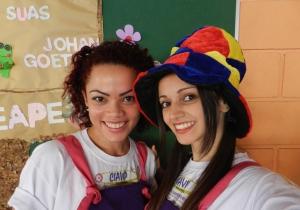 Hortolendo2013 - Dávila Carvalho e Elaine Oliveira - monitoras - CIAVIP - CCR AutoBAn