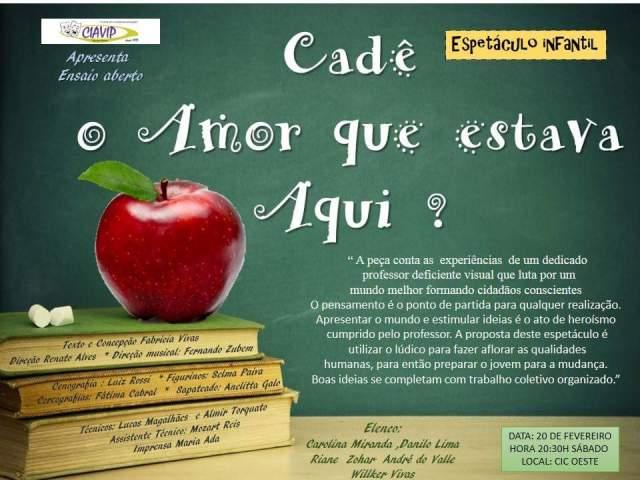 CadêoAmorQueEstavaAqui_cartazCIC